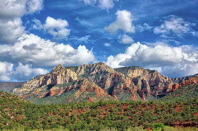 Sedona Red Rocks Scenic View Poster by Jennifer Rondinelli Reilly - Fine Art Photography