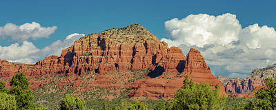 Sedona, Rocks And Clouds Poster by Bill Gallagher