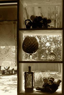 Poster featuring the photograph Sedona Series - Window Display by Ben and Raisa Gertsberg