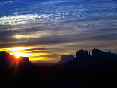 Sedona Sunrise Poster by Stephen Campbell