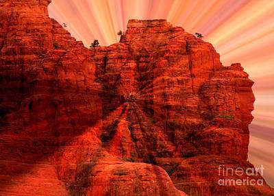 Sedona Sunset Energy - Abstract Art Poster by Carol Groenen