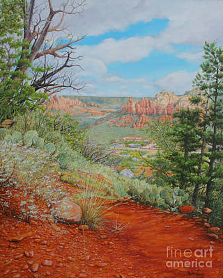 Poster featuring the painting Sedona Trail by Mike Ivey