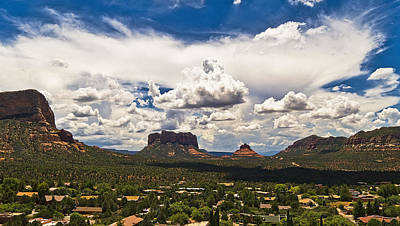 Sedona Valley And Bell Rock Poster