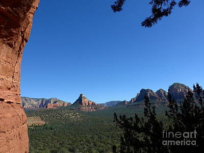 Sedona View From Cave Poster