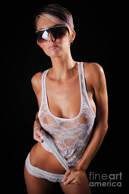 See Through Wet Tank Top Poster