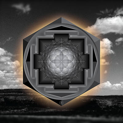 Seed Of Life Desert Mandala Poster