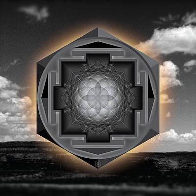 Seed Of Life Desert Mandala Poster by Milton Thompson