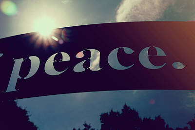 Poster featuring the photograph Seek Peace And Pursue It by Joel Witmeyer