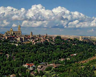 Segovia Cityscape Poster