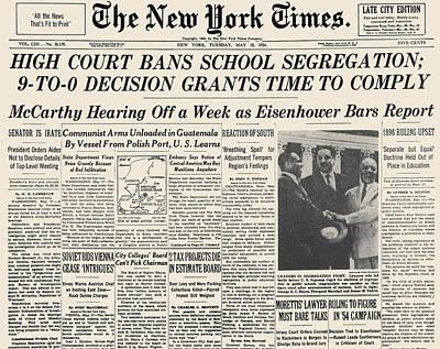 Segregation Headline, 1954 Poster