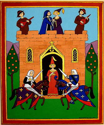 Poster featuring the painting Seige Of The Castle Of Love by Stephanie Moore
