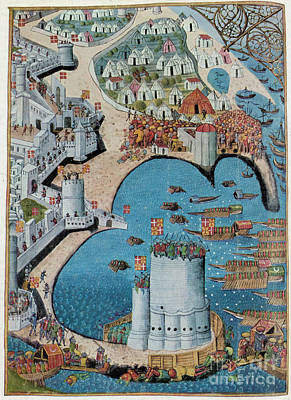 Seige Of Tower Of Saint Nicolas Poster