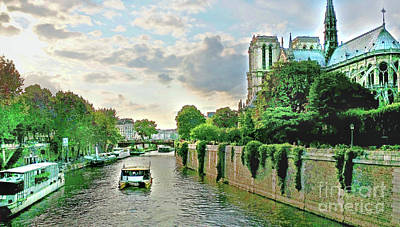 Seine River Cruise, Notre-dame Poster by Joan Minchak