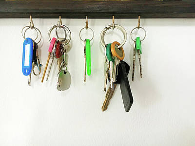 Selection Of Keys Poster by Tom Gowanlock
