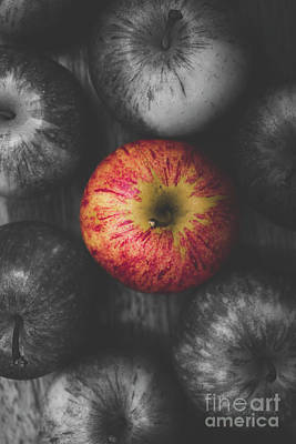 Selective Colour Still Life Fruits Poster
