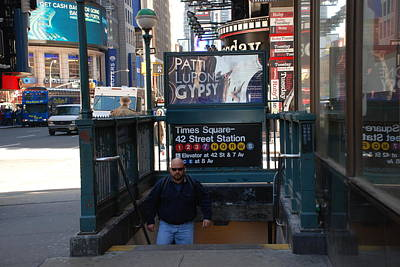 Self At Subway Stairs Poster