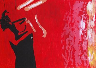 Self In Santorini Poster