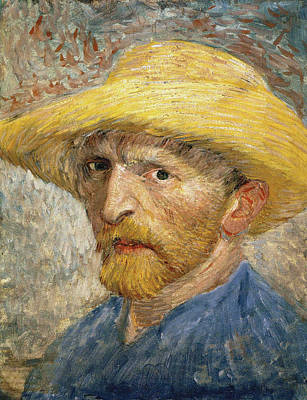 Self Portrait 1887 With Straw Hat 02 Poster by Vincent Van Gogh