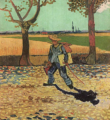 Self Portrait 1888 On The Road To Tarascon The Painter On His Way To Work Poster by Vincent Van Gogh