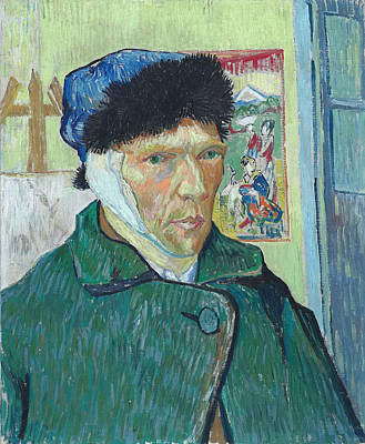 Self Portrait 1889 With Bandaged Ear Poster by Vincent Van Gogh