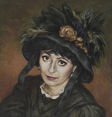 Self-portrait A La Camille Claudel Poster by Yvonne Wright