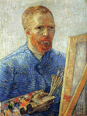 Poster featuring the painting Self Portrait As An Artist by Van Gogh