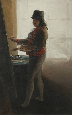 Self-portrait At The Easel Poster by Francisco Goya