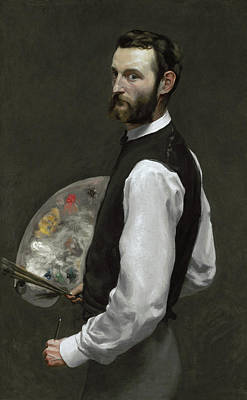 Self Portrait Poster by Jean Frederic Bazille