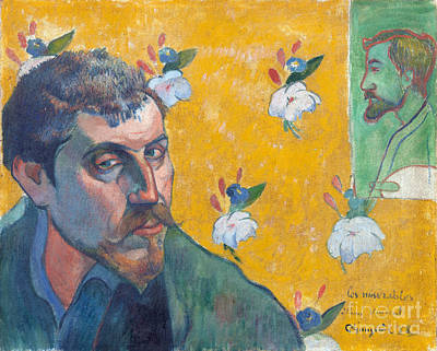 Self-portrait With Portrait Of Bernard Poster by Gauguin