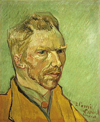 Self Portrait Yellow Poster by Vincent Van Gogh