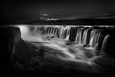Selfoss Waterfall Iceland Poster by Bill Devlin