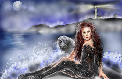 Selkie Poster by Rob Hartman