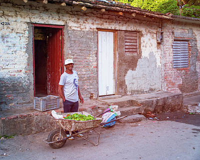 Selling Peppers In Trinidad Cuba Poster