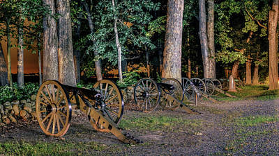 Seminary Ridge Artillery Poster by Rob Sellers