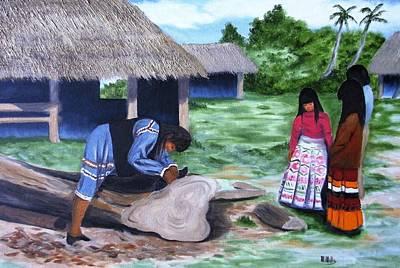 Seminole Canoe Poster