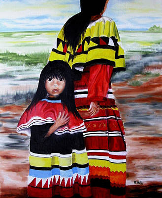 Seminole Mother And Child Poster