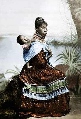Seminole Woman & Child Poster by Granger