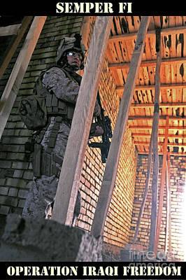 Semper Fi Operation Iraqi Freedom Poster by Liesl Marelli