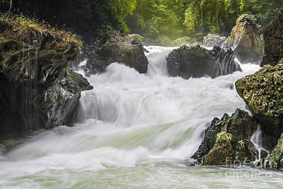 Poster featuring the photograph Semuch-champey River And Waterfalls by Yuri Santin