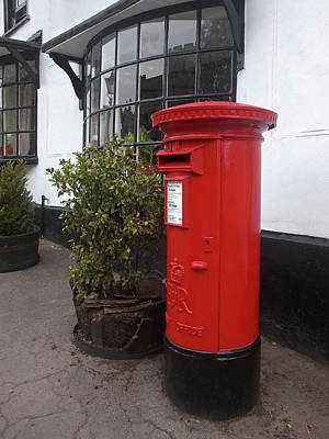 Send A Message Home - Royal Mail Post Box Poster by Gill Billington