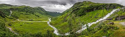 Sendefossen - Myrkdal, Norway - Landscape Photography Poster by Giuseppe Milo