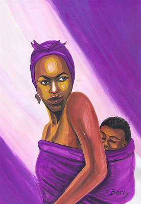 Poster featuring the painting Senegalese Woman by Emmanuel Baliyanga