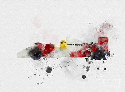 Senna Poster by Rebecca Jenkins