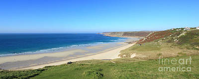 Sennen Cove - Panoramic Poster by Carl Whitfield
