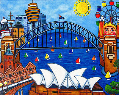 Sensational Sydney Poster by Lisa  Lorenz