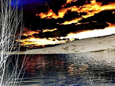 Sensational Winter Sunset Poster by Will Borden