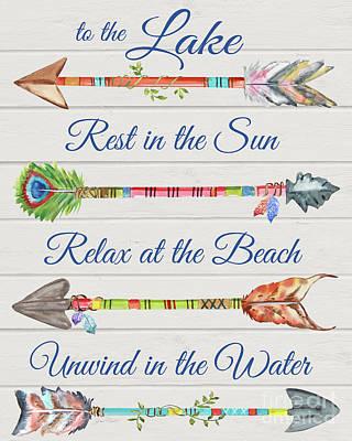 Sentimental Arrows-lake Poster by Jean Plout