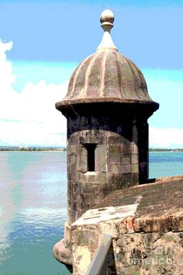 Poster featuring the photograph Sentry Box In El Morro by The Art of Alice Terrill