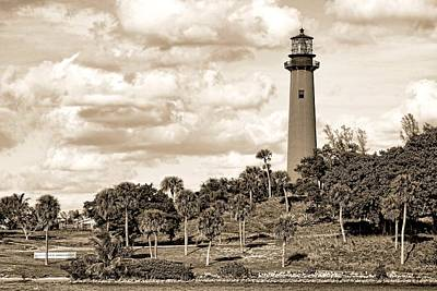 Sepia Lighthouse Poster