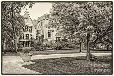 Sepia Photograph Of The University Of Chicago Ryerson Physical Laboratory II - Chicago Illinois  Poster